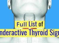 List of underactive Thyroid symptoms