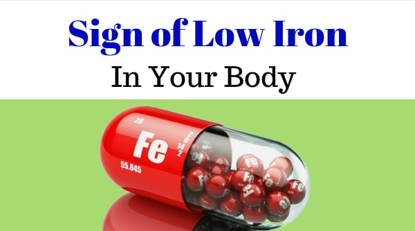 Low iron levels symptoms