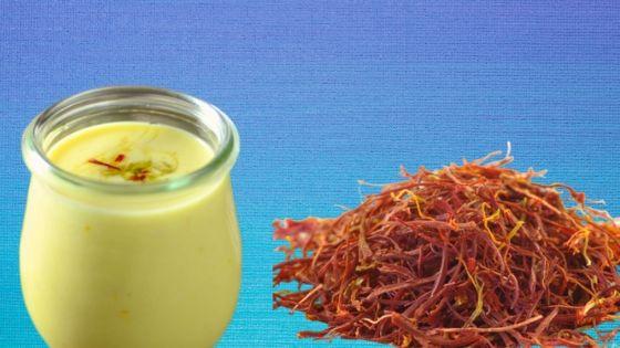 Benefits of drinking saffron with milk