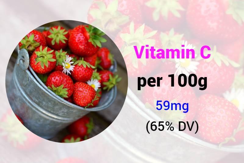 Strawberries rich in vitamin c